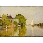 Puzzle  Grafika-Kids-00482 Claude Monet: Maisons sur le Achterzaan, 1871