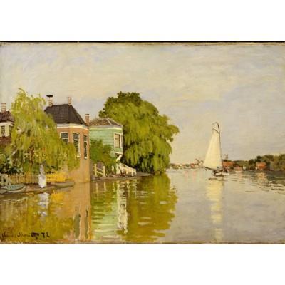 Puzzle Grafika-Kids-00483 Pièces Magnétiques - Claude Monet: Maisons sur le Achterzaan, 1871