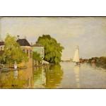 Puzzle  Grafika-Kids-00484 Pièces XXL - Claude Monet: Maisons sur le Achterzaan, 1871