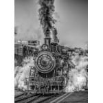 Puzzle  Grafika-Kids-00613 Pièces Magnétiques - Locomotive à Vapeur