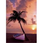 Puzzle  Grafika-Kids-00623 Pièces Magnétiques - Coucher de Soleil au Paradis