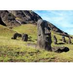 Puzzle  Grafika-Kids-00628 Pièces Magnétiques - Île de Pâques, Moai at Quarry
