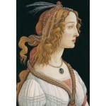 Puzzle  Grafika-Kids-00695 Sandro Botticelli: Portrait de Jeune Femme, 1494