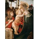 Puzzle  Grafika-Kids-00702 Sandro Botticelli: La Vierge à l'Enfant, le Jeune Saint Jean-Baptiste, 1470-1475
