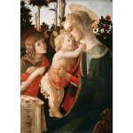 Puzzle  Grafika-Kids-00703 Sandro Botticelli: La Vierge à l'Enfant, le Jeune Saint Jean-Baptiste, 1470-1475