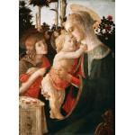 Puzzle  Grafika-Kids-00704 Sandro Botticelli: La Vierge à l'Enfant, le Jeune Saint Jean-Baptiste, 1470-1475