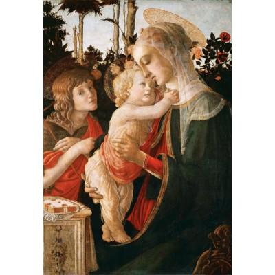 Puzzle Grafika-Kids-00706 Pièces XXL - Sandro Botticelli: La Vierge à l'Enfant, le Jeune Saint Jean-Baptiste, 1470-1475
