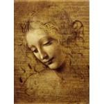 Puzzle  Grafika-Kids-00711 Léonard de Vinci : Visage de Giovane Fanciulla, 1508
