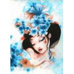 Puzzle  Grafika-Kids-00742 Pièces magnétiques - Misstigri : Blue Flowers