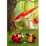 Puzzle  Grafika-Kids-00830 Pièces XXL - François Ruyer: Poker des Coccinelles