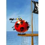 Puzzle  Grafika-Kids-00841 Pièces magnétiques - François Ruyer: Coccinelle Pirate