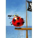 Puzzle  Grafika-Kids-00842 Pièces XXL - François Ruyer: Coccinelle Pirate