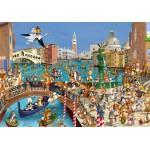 Puzzle  Grafika-Kids-00856 François Ruyer : Les Lapins à Venise