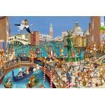 Puzzle  Grafika-Kids-00859 Pièces XXL - François Ruyer : Les Lapins à Venise