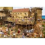 Puzzle  Grafika-Kids-00871 François Ruyer : Construction au Moyen-Âge
