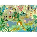 Puzzle  Grafika-Kids-00877 Pièces magnétiques - François Ruyer : Jungle
