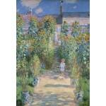 Puzzle  Grafika-Kids-01017 Claude Monet - Le Jardin de l'Artiste à Vétheuil, 1880