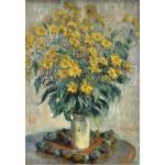 Puzzle  Grafika-Kids-01025 Claude Monet - Jérusalem Fleurs d'artichaut, 1880