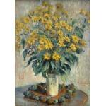 Puzzle  Grafika-Kids-01027 Claude Monet - Jérusalem Fleurs d'artichaut, 1880