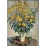 Puzzle  Grafika-Kids-01028 Pièces XXL - Claude Monet - Jérusalem Fleurs d'artichaut, 1880