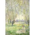 Puzzle  Grafika-Kids-01029 Claude Monet - Femme assise sous les Saules, 1880