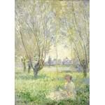 Puzzle  Grafika-Kids-01031 Claude Monet - Femme assise sous les Saules, 1880