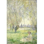 Puzzle  Grafika-Kids-01032 Pièces XXL - Claude Monet - Femme assise sous les Saules, 1880