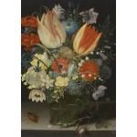 Puzzle  Grafika-Kids-01078 Peter Binoit: Nature Morte avec des Tulipes, 1623