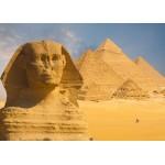 Puzzle  Grafika-Kids-01140 Pièces magnétiques - Sphinx et Pyramides de Gizeh
