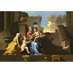 Puzzle  Grafika-Kids-01252 Nicolas Poussin : La Sainte Famille sur les Marches, 1648
