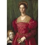 Puzzle  Grafika-Kids-01253 Agnolo Bronzino : Jeune Femme et Son Petit Garçon, 1540