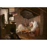 Puzzle  Grafika-Kids-01257 Carl Spitzweg - Le Pauvre Poète, 1839