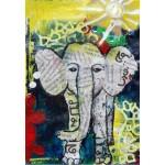 Puzzle  Grafika-Kids-01270 Eléphanteau Thaïlandais