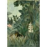 Puzzle  Grafika-Kids-01275 Henri Rousseau : La Jungle Equatoriale, 1909