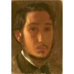Puzzle  Grafika-Kids-01278 Edgar Degas : Autoportrait avec Col Blanc, 1857