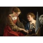Puzzle  Grafika-Kids-01284 Orazio Gentileschi et Giovanni Lanfranco : Sainte Cecilia et un Ange, 1617/1618