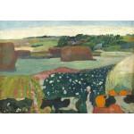 Puzzle  Grafika-Kids-01302 Paul Gauguin : Meules de Foin en Bretagne, 1890