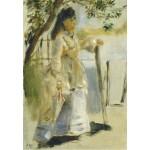 Puzzle  Grafika-Kids-01312 Auguste Renoir : Femme à la Barrière, 1866