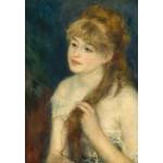 Puzzle  Grafika-Kids-01327 Auguste Renoir : Jeune Femme Tressant ses Cheveux, 1876