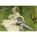Puzzle  Grafika-Kids-01329 Auguste Renoir : Madame Monet et son Fils, 1874