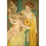 Puzzle  Grafika-Kids-01341 Mary Cassatt : Mère et Enfant, 1905