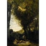 Puzzle  Grafika-Kids-01344 Jean-Baptiste-Camille Corot : Saint Sebastian Succored by the Holy Women, 1874