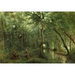 Puzzle  Grafika-Kids-01345 Jean-Baptiste-Camille Corot : Les Ramasseurs d'Anguille, 1860-1865