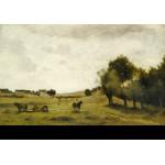 Puzzle  Grafika-Kids-01348 Jean-Baptiste-Camille Corot : Vue près d'Epernon, 1850-1860