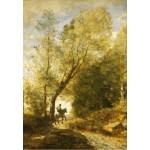 Puzzle  Grafika-Kids-01349 Jean-Baptiste-Camille Corot : La Forêt de Coubron, 1872