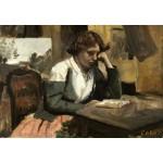Puzzle  Grafika-Kids-01350 Jean-Baptiste-Camille Corot : Lecture de Jeune Fille, 1868