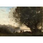 Puzzle  Grafika-Kids-01352 Jean-Baptiste-Camille Corot : Danse sous les Arbres au Bord du Lac, 1865-1870
