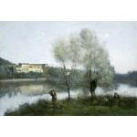 Puzzle  Grafika-Kids-01355 Jean-Baptiste-Camille Corot : Ville-d'Avray, 1865