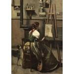 Puzzle  Grafika-Kids-01358 Jean-Baptiste-Camille Corot : Atelier de l'Artiste, 1868