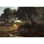 Puzzle  Grafika-Kids-01359 Jean-Baptiste-Camille Corot : Forêt de Fontainebleau, 1834